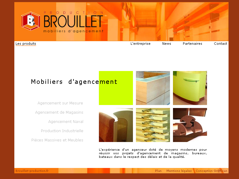 Brouillet Production Site internet