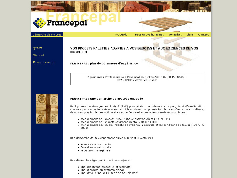 Francepal Site Internet