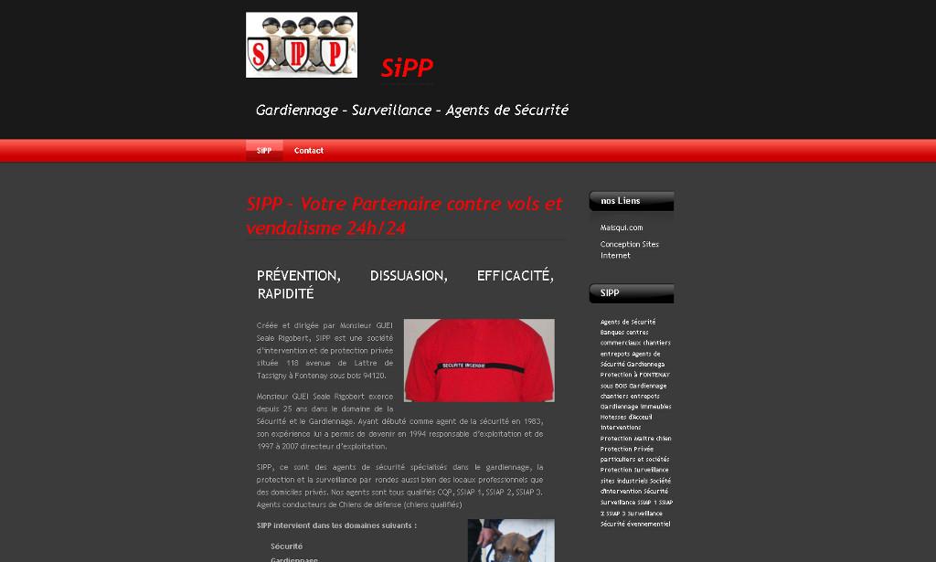 Site internet pour entreprise de sécurité Paris Nantes