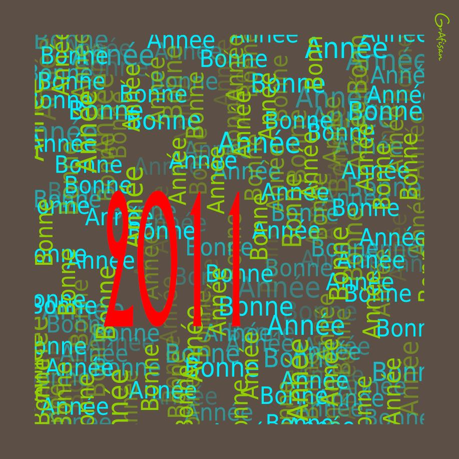 Meilleurs voeux pour cette année 2011