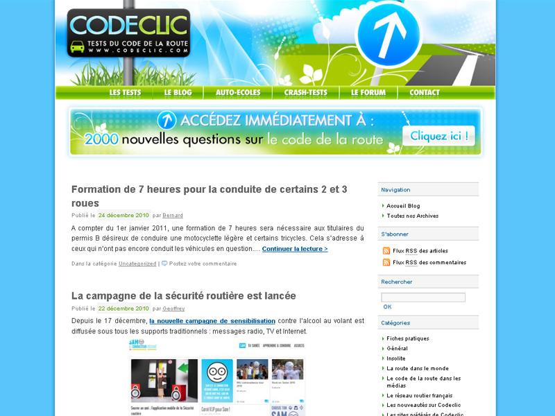 Intégration charte graphique blog code de la route migration blog DotClear vers WordPress.